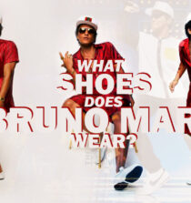 What shoes does Bruno Mars wear
